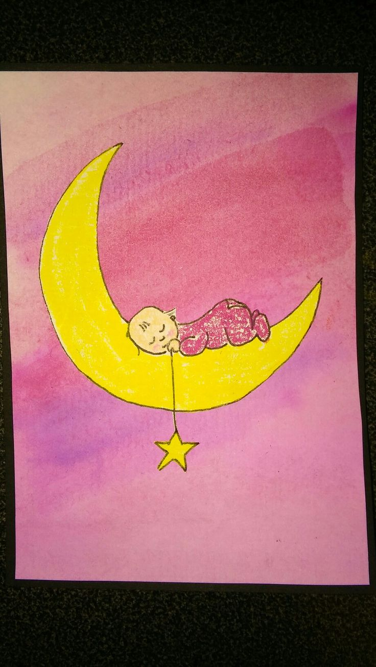 My version of a baby girl card