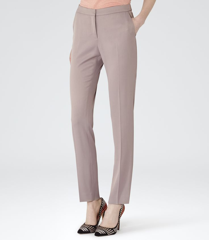 Womens Mink Tailored Trousers - Reiss Prospect