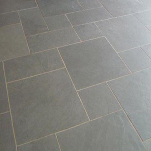 Cool Grey Slate Kitchen Floor
