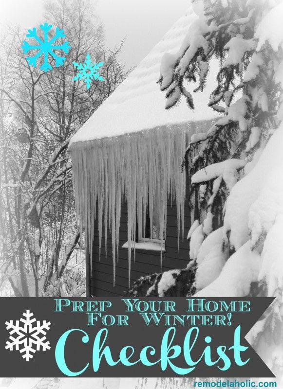 Winter Home Checklist remodelaholic.com #winter #homecare #FiltreteFilters