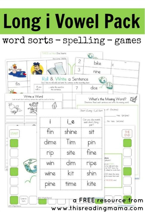 FREE Long i Vowel Pack - This Reading Mama