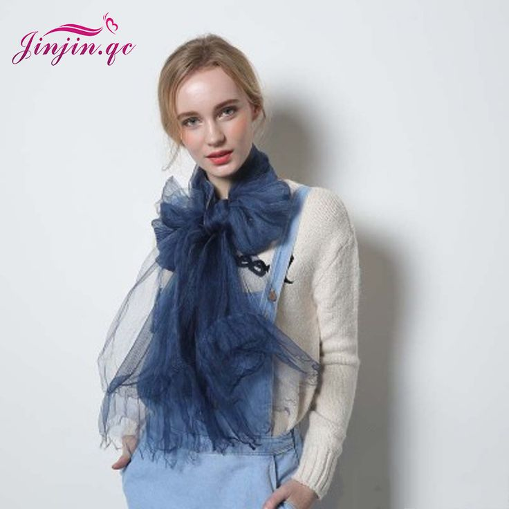 [Jinjin.QC] Fashion Silk Scarf Winter Women Scarves and Shawls Echarpe foulard femme jersey hijab solid color bandana sjaal iman * AliExpress Affiliate's Pin.  Click the image to view the details