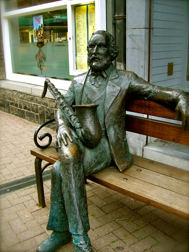 Adolphe Sax @Dinant Den Braver Den Braver Den Braver Den Braver, Belgium inventor of the saxophone
