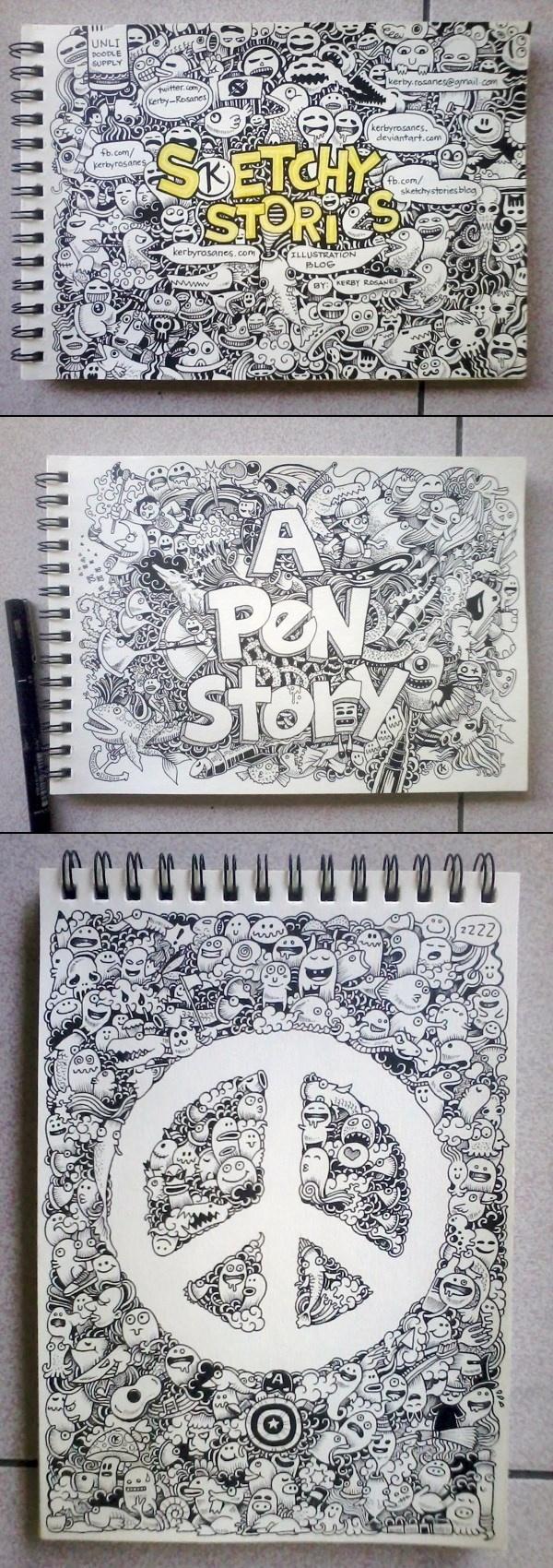 Kerby Rosanes→Random Doodles 2012 (Part One)  Drawing, Illustration