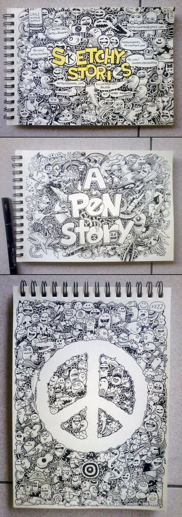Kerby Rosanes→Random Doodles 2012 (Part One)  Drawing, Illustration