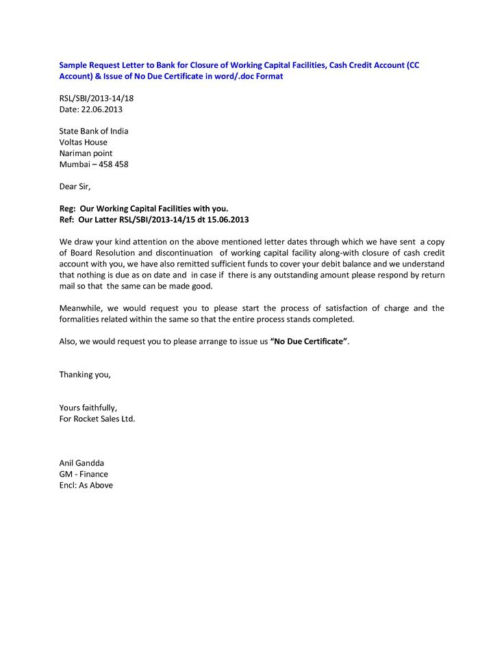 dues letter format business estimate template closing examples resume cover sample request bank manager