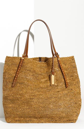 Michael Kors 'Santorini' Raffia Tote available at Nordstrom