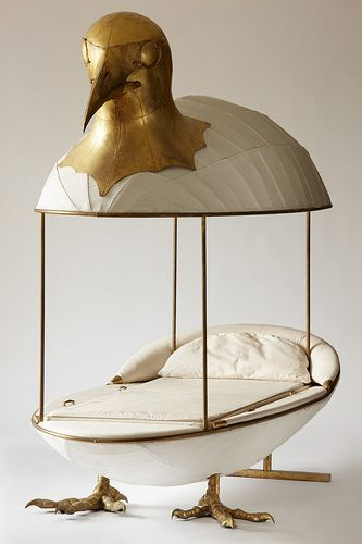 Canopy bed sculpture by François Lalanne