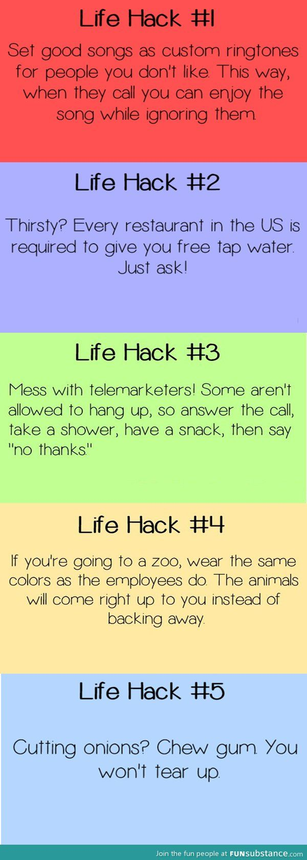 5 life hacks....the only one I care about here is the Zoo one. Who wants to get a zookeeper costume with me and have the best day of your life??