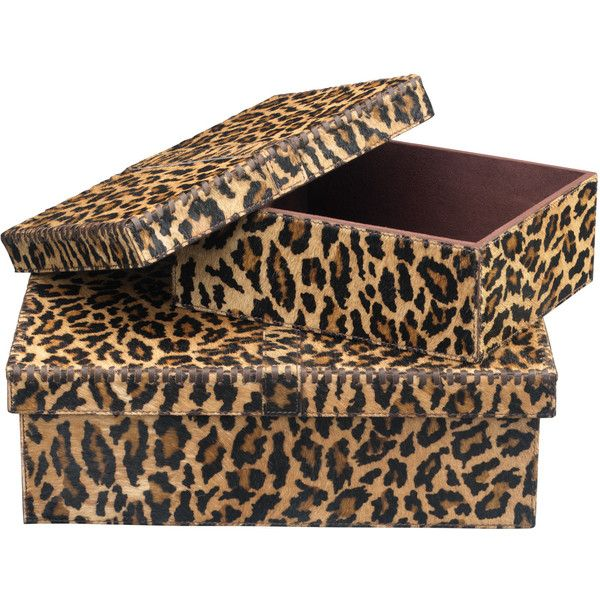 Jamie Young Frontera Leopard Box Set Of 2 Found On Polyvore Leopard Home Decorbox