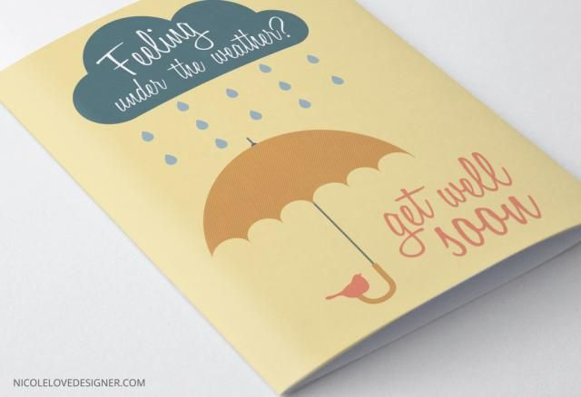 Send a Smile With These Free, Printable Get Well Cards: Printable Get Well Card by Nicole Love
