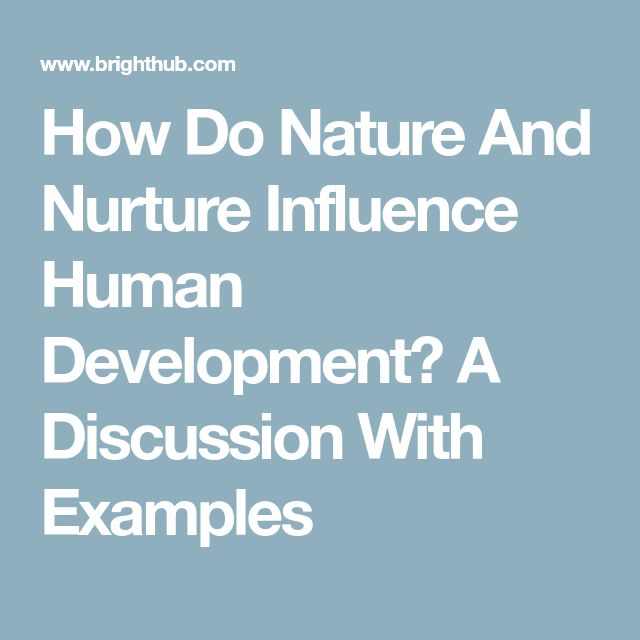 which is an example of the influence of nature