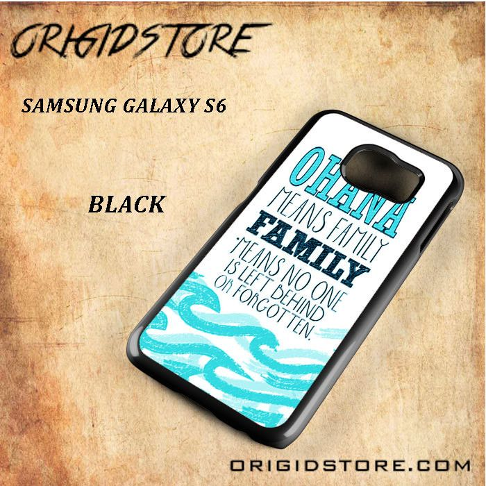 Ohana Lilo And Sticth Black White Snap On 3D For Samsung Galaxy S6 Case