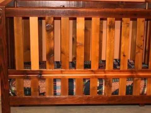 Barn Wood Baby Crib Rustic Baby Crib | Cribs | Pinterest