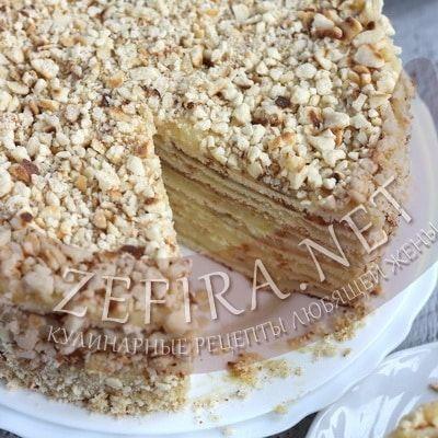 Торт на сковороде со сгущенкой — Кулинарные рецепты любящей жены