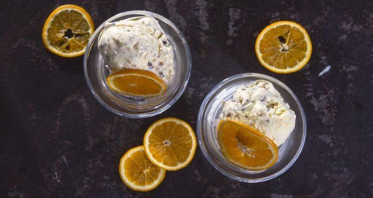 Healthy παγωτό πορτοκάλι