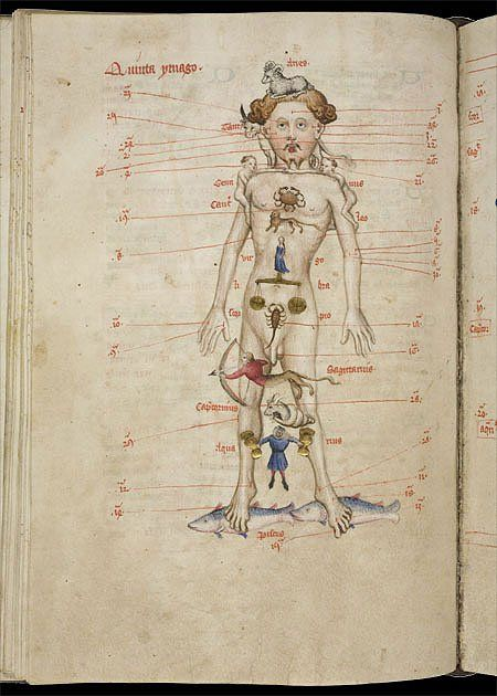 Detail from the the Liber Cosmographiae of John de Foxton, 1408. The Wren Library, Trinity College, R. 15.21.