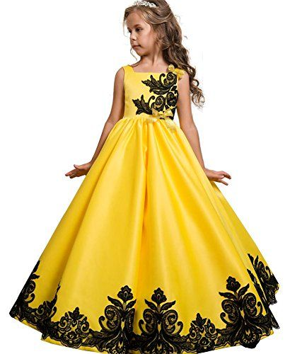 6d4d819e90 WEONEDREAM Sleeveless Knee Flower Girl Dresses for Wedding Girls 7-16  Pageant Party Dress