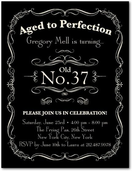 Adult Birthday Party Invitations Postcard - Aged to Perfection by Tiny Prints