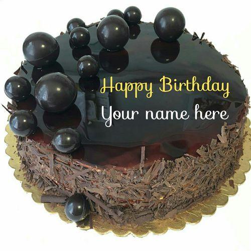 Get Your Name On Dark Chocolate Birthday Cake,Yummy Dark