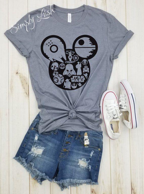 Star Wars Theme Mickey Shirt Disney Tee Unisex Disney