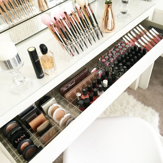 Acrylic makeup organizer organiser storage by VanityCollections