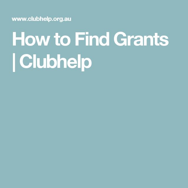 How to Find Grants | Clubhelp
