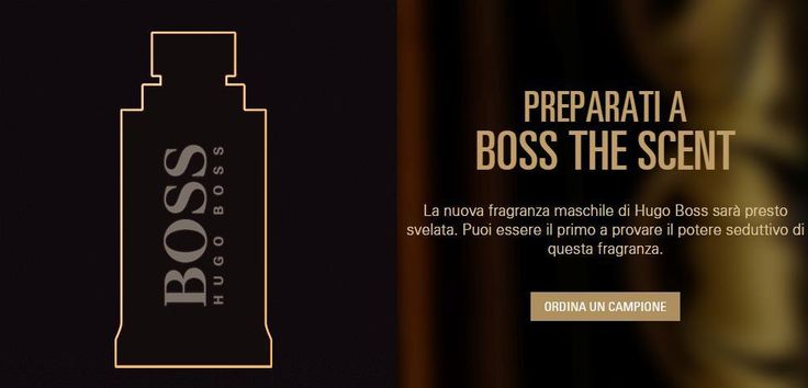 """Campione omaggio profumo Hugo Boss """"The Scent"""""""