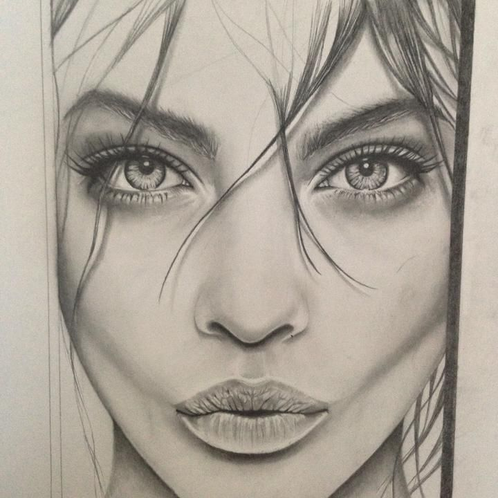 Faces to draw in pencil