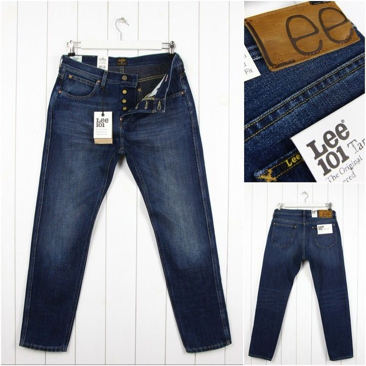 NEW  LEE 101 TAPERED JEANS 11 3/4 oz  SPECKLED DENIM SLIM  FIT _ ALL SIZES