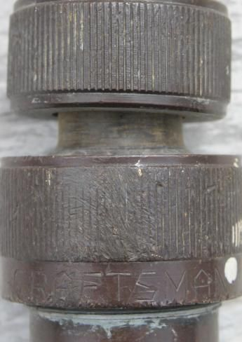 vintage solid brass hose nozzles lot, old Craftsman garden hose nozzle etc.