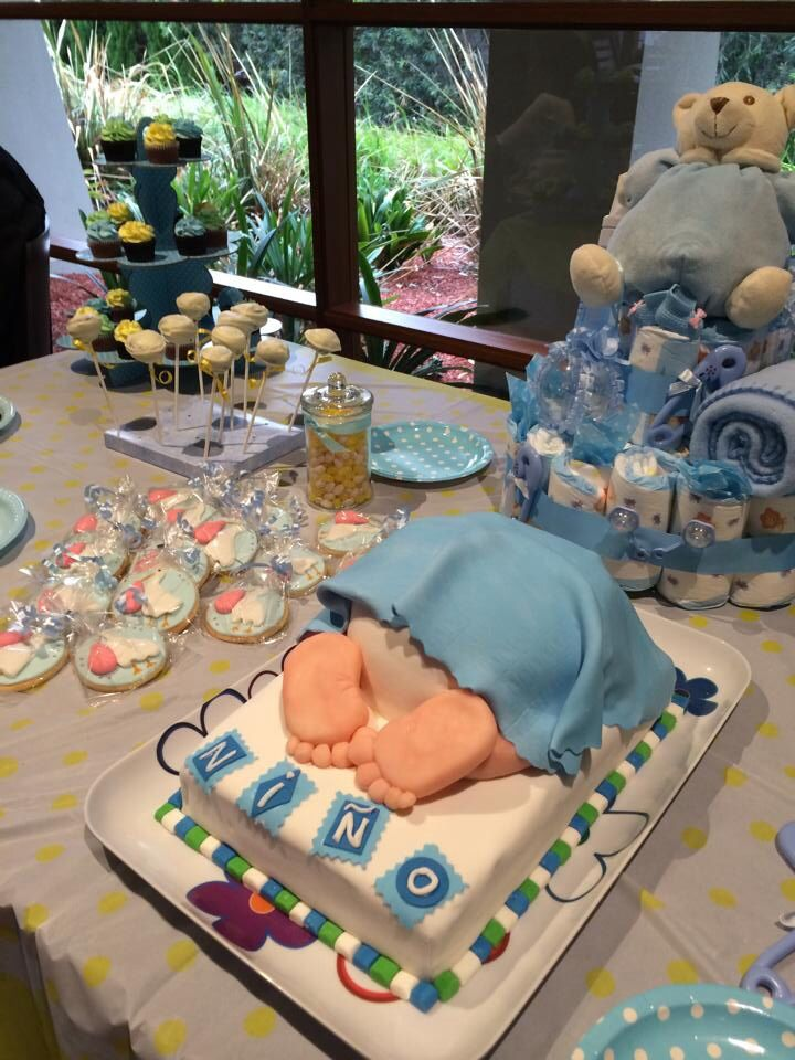 Pastel Baby Shower Niño