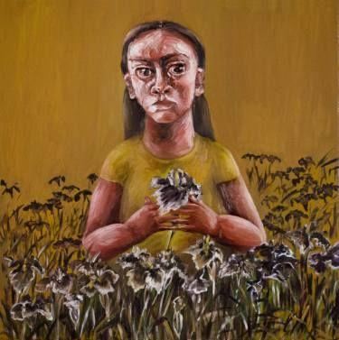 """Saatchi Art Artist Oksana Reznik; Painting, """"Iris"""" #art"""