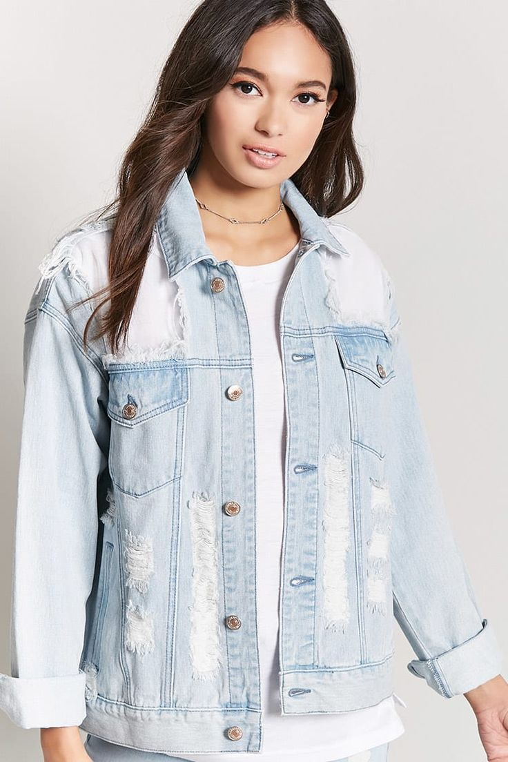 Distressed Denim Jacket | Forever21