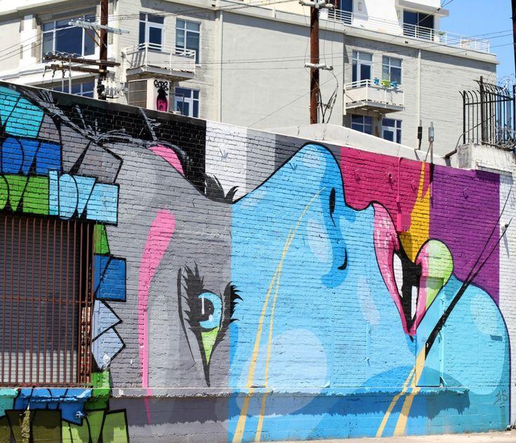Graffiti Art Walking Tour in Downtown Los Angeles.