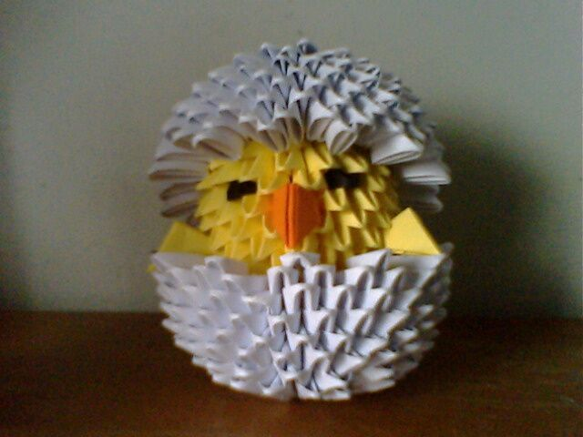 3D+Origami   Chickee by ~collarander « 3D Origami « 3D Origami Art