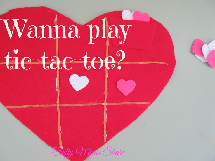 Crafty Moms Share: Easy Valentine Tic-Tac-Toe Game Craft