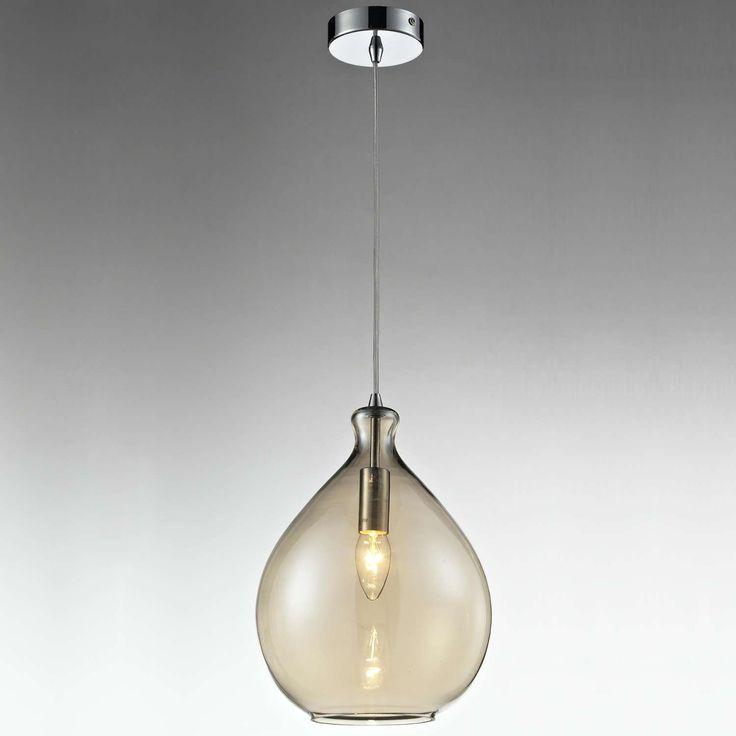 LAMPA wisząca LAMP 305/A szklana OPRAWA retro zwis kropla łezka przydymiony