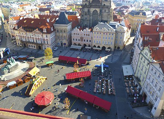 Everlasting Markets in Old Town square, Prague.