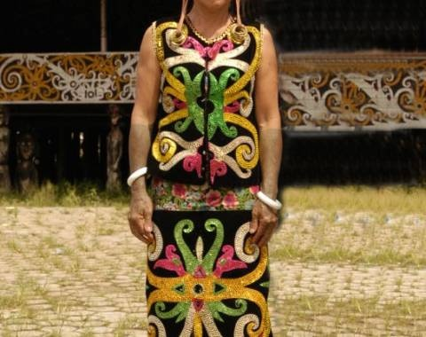 Dayak's traditional costume.