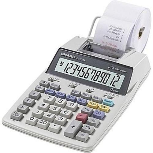 Sharp EL1701V Portable 2-colour Printing w/12-digit LCD Calculator EL-1701V
