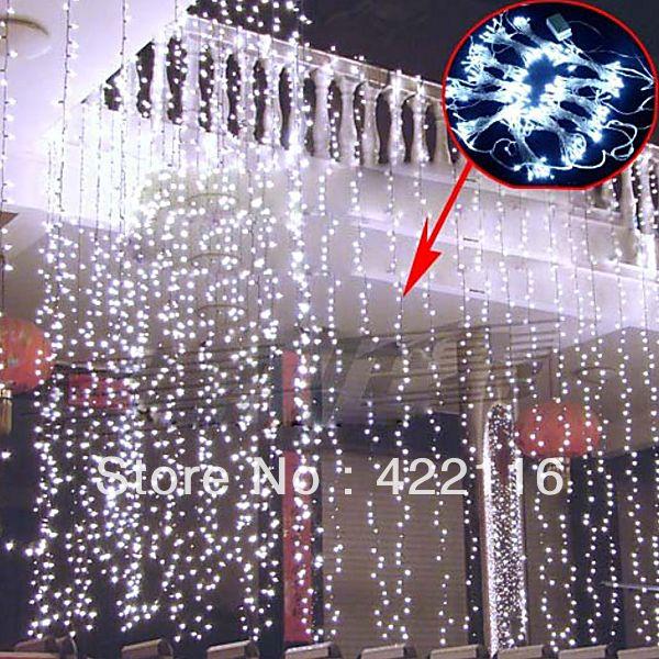 8 х 3м 800 сид газа водонепроницаемый строку огни фестиваля праздник занавес свадьбы лампы стороны фея рождественские гирлянды