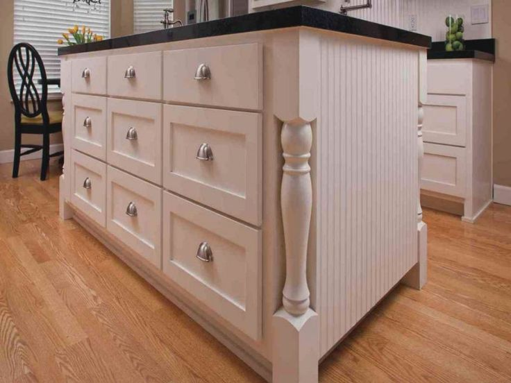 Kitchen Elegant Refacing Cabinets With White Island Drawers Black Marble Countertop Above Laminate
