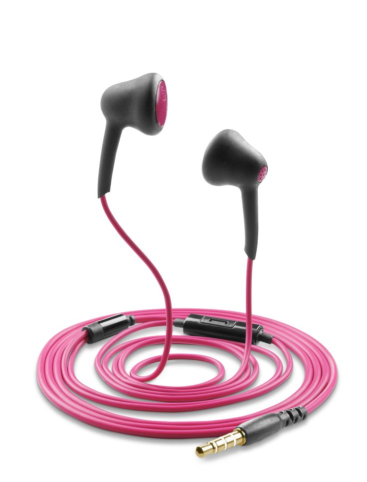 FIREFLY - #Auricolari stereo con microfono #fucsia https://www.cellularline.com/catalog/it/product/firefly
