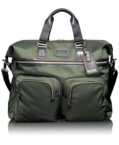 Alpha Bravo Duffel by Tumi: Light weight, well made, with all the pockets you would ever need. Comes with leather handles and a removable shoulder strap. #Duffle #Tumi