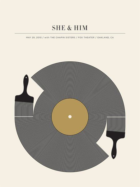 awesome indie music band posters | She & Him | 40 Awesome Concert Posters - Yahoo! Music