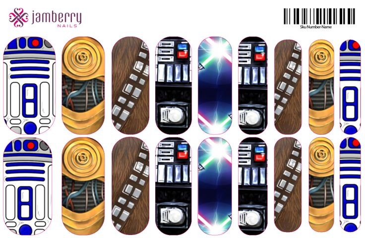 Jamberry Nails preview of Starwars NAS design. Ordering this tomorrow! www.sarahhorst.jamberrynails.net Original design by Jess Wright.
