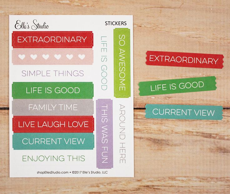 Extraordinary Sticker Labels by Elle's Studio - perfect for scrapbook layouts, Project Life pocket pages, and more!