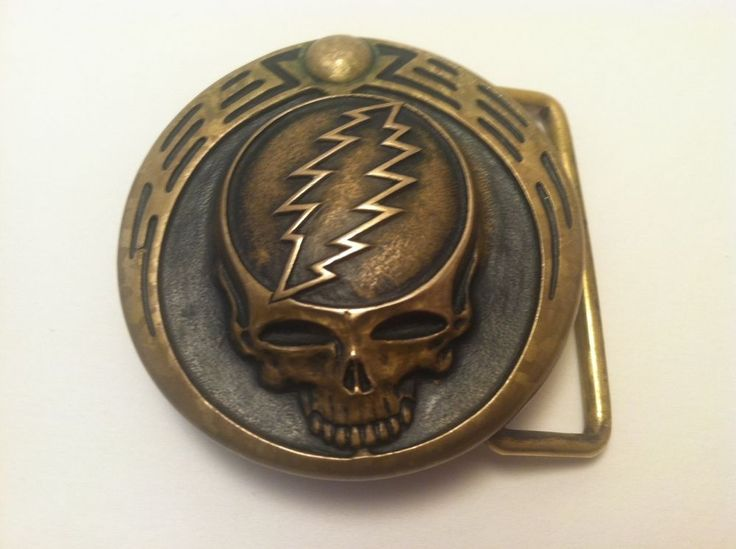 Owsley Stanley Buckle - Bronze - Steal Your Face Grateful Dead