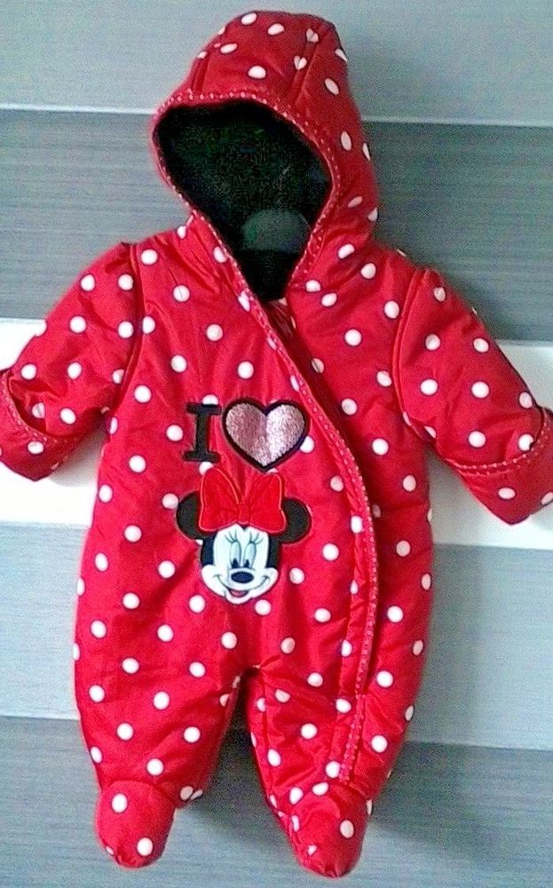 e186ab786 Baby Girls Minnie Mouse Snowsuit First Size 9lbs Disney by George ...